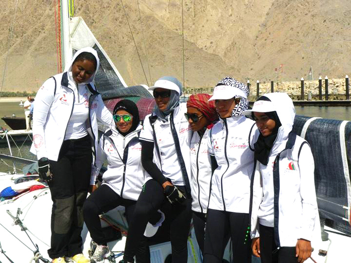 All 6 Omani Women Sailors