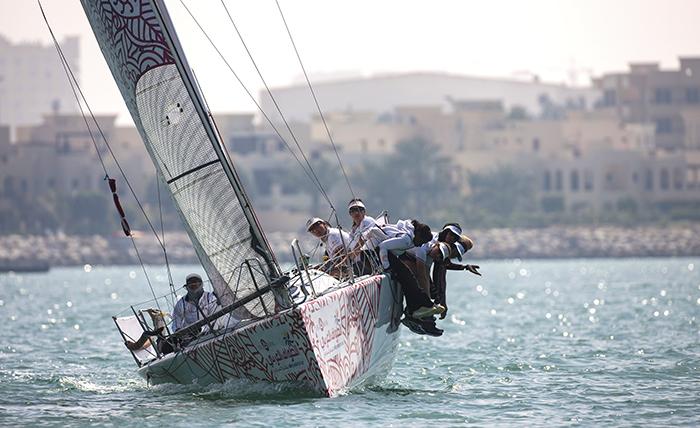 Girls in-port racing