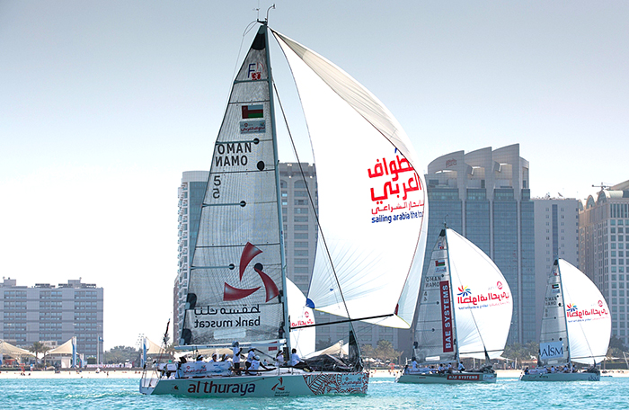 Our girls in-port racing at Abu Dhabi
