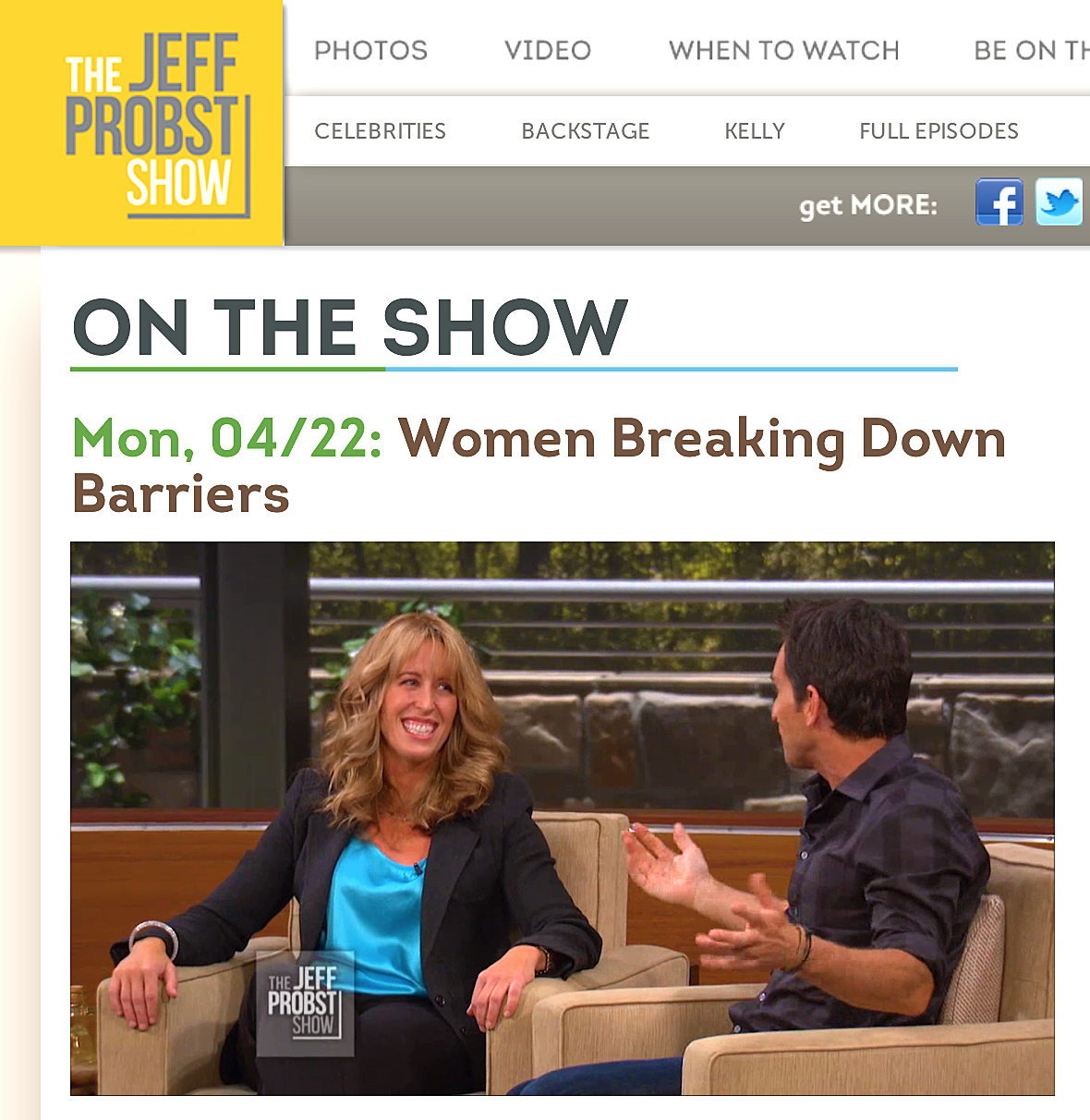 Katie on Jeff Probst Show