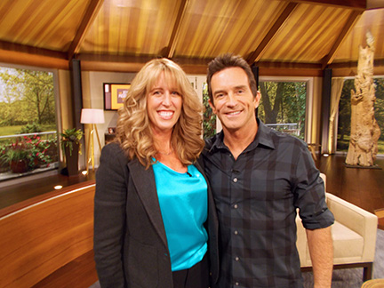 Katie with Jeff Probst