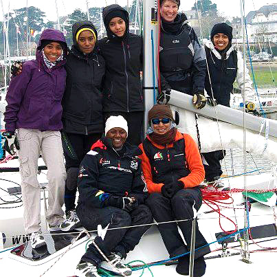 Omani Women's Sail Team in France