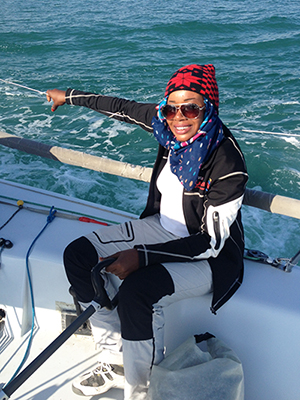 Khaloud steering into Mussanah
